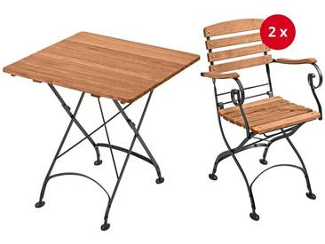 Gartenmöbel-Set Maja, 3-teilig, Tisch 80 x 80 cm, 2 Gartensessel