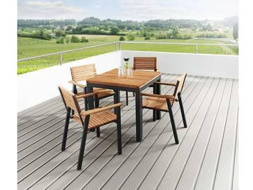 Gartenmöbel-Set Sassa 5-teilig, 4 Sessel, 1 Tisch 80 x 80 cm