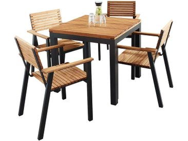 """Gartenmöbel-Set """"Sassa"""" 5-teilig, 4 Sessel, 1 Tisch 80 x 80 cm"""