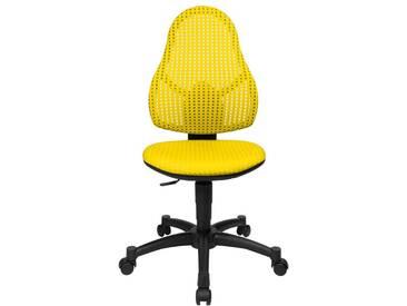 Schreibtischstuhl für Kinder und Jugendliche Open Art Junior gelb