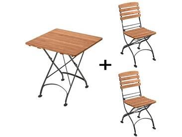 Gartenmöbel-Set Maja 3-teilig, Tisch 80 x 80 cm, 2 Stühle