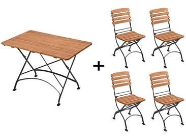 Gartenmöbel-Set Maja 5-teilig, Tisch 120 x 80 cm, 4 Stühle