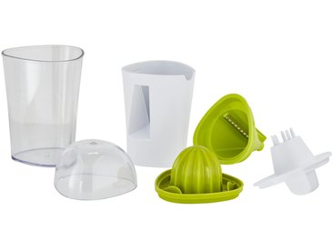 KHG Saftpresse & Gemüseschneider, 2in1 - grün - Kunststoff - 9,8 cm - 9,7 cm - 18,4 cm - Möbel-Kraft