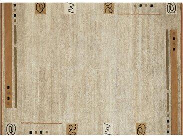 Nepal Teppich - beige - Wolle, 80% Wolle, 20% Hanf - 90 cm - Möbel-Kraft