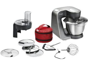 BOSCH Küchenmaschine  MUM 59N26DE - grau - Kunststoff, Edelstahl - 28 cm - 28,2 cm - 27,1 cm - Möbel-Kraft