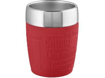 emsa Isolierbecher - rot - Kunststoff (Polypropylen), Edelstahl, Silikon - 8,7 cm - 11,2 cm - Möbel-Kraft