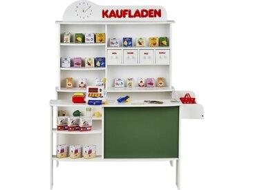 Roba Kaufmannsladen  Verkaufsstand mit Zubehör - weiß - Schichtholz und MDF lackiert - 100 cm - 120 cm - 78 cm - Möbel-Kraft