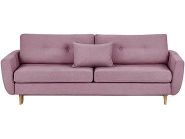 finya skandinavisches Schlafsofa 3-sitzig  Harris - rosa/pink - 231 cm - 85 cm - 92 cm - Möbel-Kraft