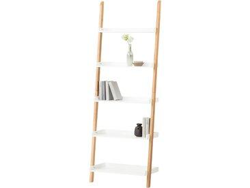 Leiterregal - weiß - 67 cm - 188 cm - 35 cm - Möbel-Kraft