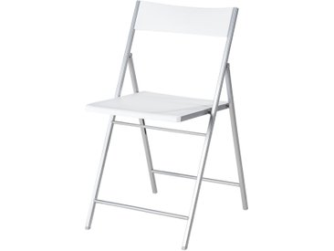 Klappstuhl - weiß - 43 cm - 76,5 cm - 45 cm - Möbel-Kraft
