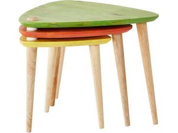 Roomers 3er-Set Beistelltische - mehrfarbig - 54,5 cm - 45,5 cm - Möbel-Kraft