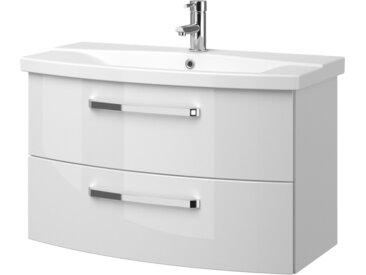 calmoquick Waschtischkombination - weiß - 84 cm - 53,7 cm - 46 cm - Möbel-Kraft