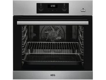 AEG Einbau-Backofen  BEB355020M - schwarz - Metall-lackiert, Glas , Edelstahl, Kunststoff - 59,5 cm - 59,4 cm - 56,7 cm - Möbel-Kraft