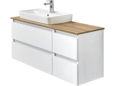 Waschtischkombination - weiß - 113 cm - 64,2 cm - 50 cm - Möbel-Kraft
