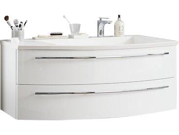 Waschtischkombination - weiß - 121 cm - 48 cm - Möbel-Kraft