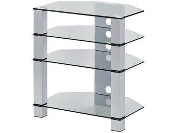 TV-Rack - transparent/klar - 70 cm - 77 cm - 50 cm - Möbel-Kraft