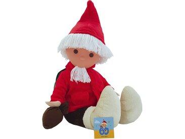 Puppe - rot - Körper aus Synthetikplüsch (100% Polyester), Gesicht aus Kunststoff (100% Polyethylen),Bart und Haare aus Wolle (100% Wolle), Füllmaterial aus Polyesterwatte (100% Polyester) - 55 cm - Möbel-Kraft