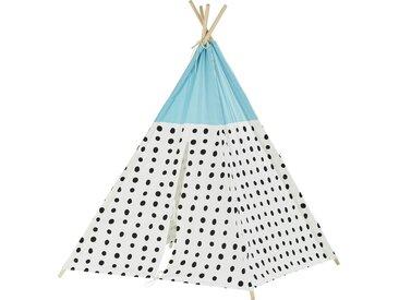 Tipi-Zelt - mehrfarbig - Bezug aus 100% Baumwolle, Gestell aus Kiefernholz massiv - 120 cm - 120 cm - 160 cm - Möbel-Kraft
