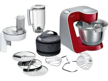 BOSCH Küchenmaschine   MUM 58720 - rot - Edelstahl, Kunststoff - 28 cm - 28,2 cm - 27,1 cm - Möbel-Kraft