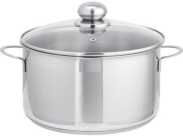 levelone Fleischtopf 24cm  Basic - silber - Edelstahl - Möbel-Kraft