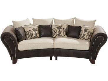 smart Big Sofa im Kolonialstil  Nadja - braun - 277 cm - 100 cm - 108 cm - Möbel-Kraft