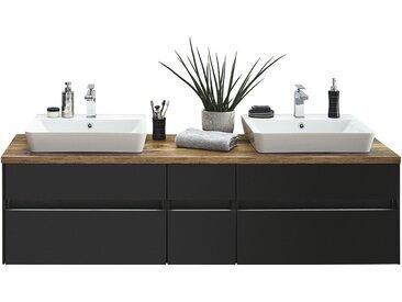 Waschtischkombination - grau - 172,6 cm - Möbel-Kraft