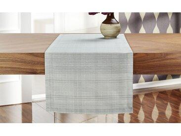 GO-DE Garten-Tischläufer  Lara - grau - 70% Baumwolle/ 30% Polyester - 40 cm - Möbel-Kraft