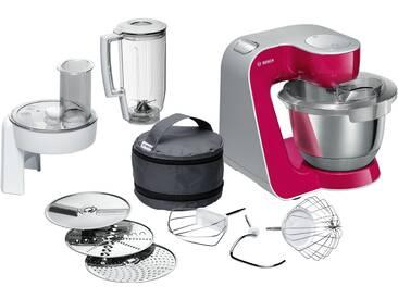 BOSCH Küchenmaschine   MUM 58420 - rot - Edelstahl, Kunststoff - 28 cm - 28,2 cm - 27,1 cm - Möbel-Kraft