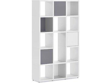 Regalsystem konfigurierbar 3x5-P2 BOON   110x183x33 cm (LxHxT)   weiß
