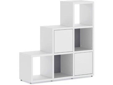 Stufenregal konfigurierbar 3x3-P BOON | 110x112x33 cm (LxHxT) | weiß