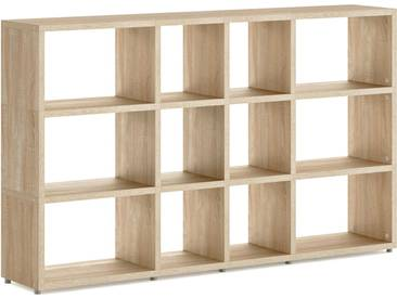 Konfigurierbares Bücherregal Regalsystem BOON Mix-4x3 | 188x112x33 cm | eiche vintage