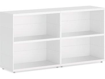 Konfigurierbare Regalwürfel Bücherwand CASE Maxi-2x2  | 150x77x34 cm | weiß