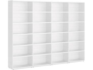 Konfigurierbare Regalwand Bücherwand CASE Maxi-4x6  | 300x221x34 cm | weiß