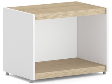 Konfigurierbares Regalwürfel Regalsystem YOMO 1x1 | 57x42x35 cm | eiche/weiß