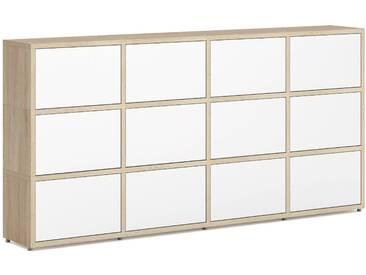 Konfigurierbares Bücherregal Regalsystem BOON L-4x3-P    231x112x33 cm   eiche vintage