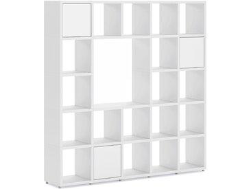 Konfigurierbares Bücherregal Regalsystem BOON 5x5-P1    181x183x33 cm   weiß