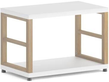 Konfigurierbares Regalwürfel Regalsystem MAXX 1x1 | 60x40x33 cm | weiß/eiche