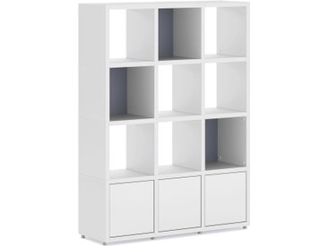 Bücherregal konfigurierbar Regalsystem konfigurierbar  BOON 3x4-P   110x147x33 cm (LxHxT)   weiß