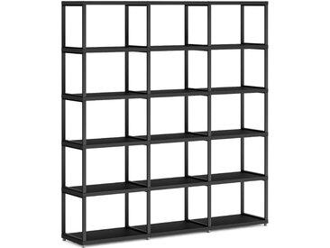 Konfigurierbares Metallregal Regalsystem MAXX M-3x5 | 174x183x33 cm | schwarz