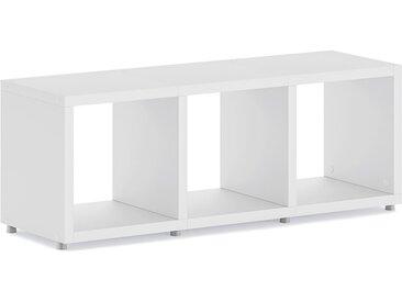 Konfigurierbares Büroregal  Regalsystem BOON 3x1  | 110x40x33 cm | weiß