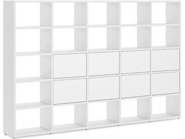 Regalsystem konfigurierbar 5x5-P1 BOON L   288x183x33 cm   weiß