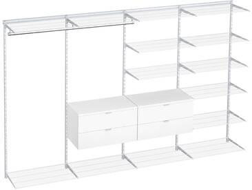 Offener Kleiderschrank Regalsystem WALK-IN D-404  | 330x200x45 cm | weiß