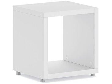 Konfigurierbares Regalwürfel Regalsystem BOON 1x1 | 38x40x33 cm | weiß