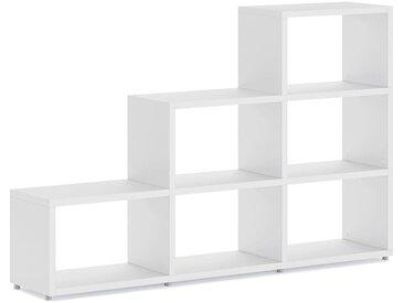 Stufenregal konfigurierbar 3x3 BOON L | 174x112x33 cm (LxHxT) | weiß