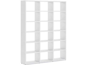 Konfigurierbares Bücherregal Regalsystem BOON L-3x6 | 174x218x33 cm | weiß