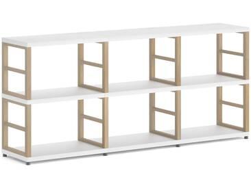 Konfigurierbares Bücherregal Regalsystem MAXX 3x2 | 174x76x33 cm | weiß/eiche