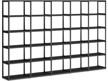 Konfigurierbares Regalwand Regalsystem MAXX M-5x5 | 288x183x33 cm | schwarz
