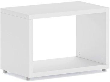 Konfigurierbares Regalwürfel Regalsystem BOON L-1x1 | 60x40x33 cm | weiß