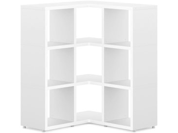 Eckregal konfigurierbar 3x3 BOON | 88/88x112x33 cm (LxHxT) | weiß