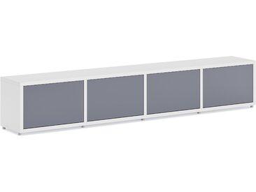 Konfigurierbares Büroregal  Regalsystem BOON L-4x1-P  | 231x40x33 cm | weiß
